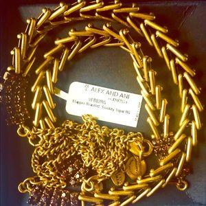 Alex and Ani necklace and bracelet set